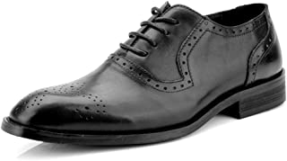 Sygjal Men's Business Oxford Casual Classic Color And Carved Breathable Brogue Shoes Fashion (Color : Gray, Size : 46 EU)