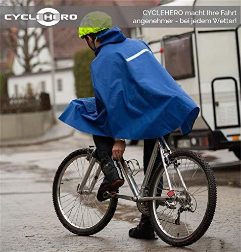 CYCLEHERO Überschuhe Fahrrad (Gelb, 36-39) Regenüberschuh wasserdicht inkl. Reflektor-Streifen, Größenregulierung und Stabiler Lauffläche für Herren und Damen - Regengamaschen Outdoor Unisex - 4