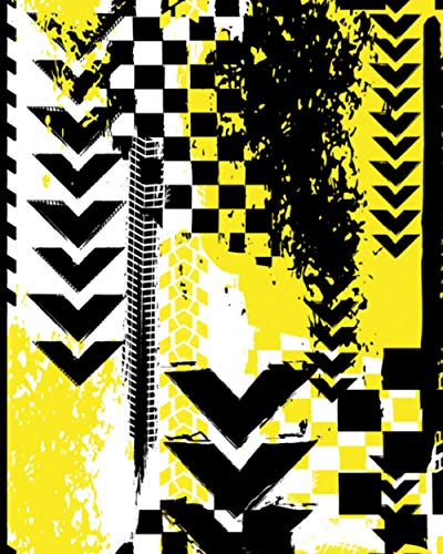 College Ruled Composition Notebook: Yellow and Black Abstract Mountain Bike Motocross Tire Tread Grunge Urban Extreme Design | Off Road Motorcycle MTB ... Art Pattern Composition Notebooks, Band 9)