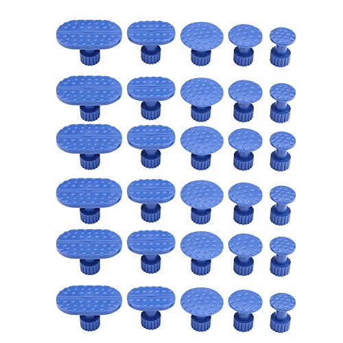 Keenso Blu Puller Tabs Dent Puller Tabs Strumenti Auto Dent Remover Paintless Dent Kit di Riparazione Auto Dent Ventosa 30 PZ