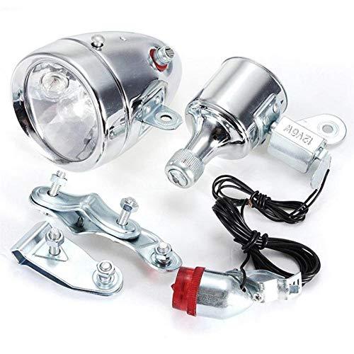 XWYWP Juego de luces de bicicleta para bicicleta con dinamo y luz trasera para bicicleta con luz trasera de bicicleta