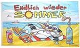 Flaggenfritze® Flagge/Fahne Endlich Wieder Sommer - 90 x 150 cm