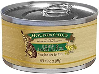 Hound and Gatos Lamb and Lamb Liver Canned Cat Food 5.5OZ 24 Cans