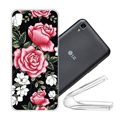 vingarshern Cover LG X Power Custodia in Flessibile Silicone,Antiurto Protezione Protettiva Custodie LG X Power Cover Morbido Sottile Gel TPU Case,Rosa