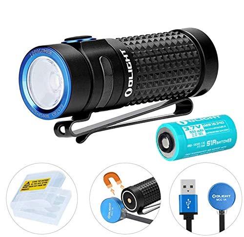 OLIGHT S1R II LED Taschenlampe, 1000 Lumen, 145 Meter Reichweite, 8 Tage Laufzeit, USB Aufladbare Taschenlampen, inkl. Batterien