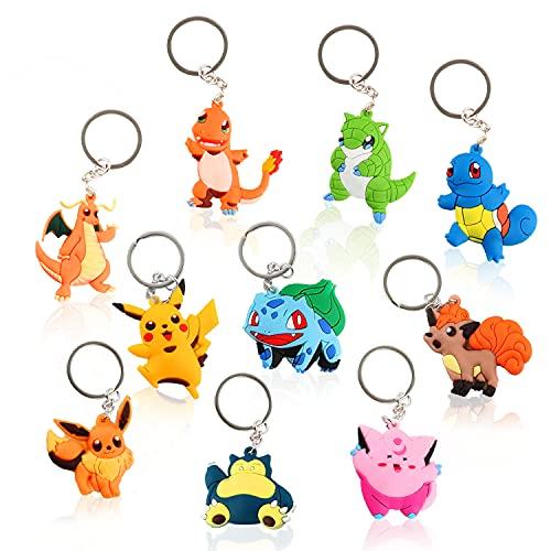 AllLeeGay Schlüsselanhänger, Silikon Schlüsselbund, Schlüsselanhänger für Kinder Schlüsselbund, Schlüsselanhänger Charaktere, Dekoration Schlüsselbund für Erwachsene und Kinder Schlusselbund-Cartoon