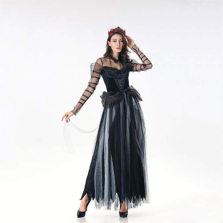 FashionCos1 Zauberhaftes Hexenkostüm für Damen blackes Vampirkleid Halloween Klassische Hexenkostüme Cosplay Horror Geisterbraut Abschlussballspielkostüm