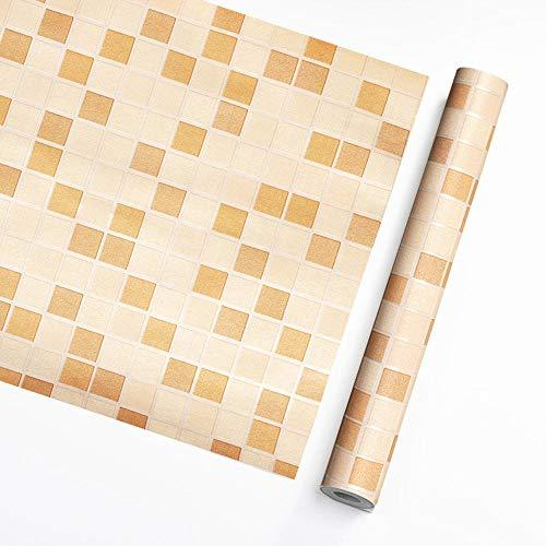 XIAORUI El baldosas de Mosaico se Sella la decoración de Papel Tapiz de DIY, Muy Adecuado para redecorar la Cocina de la Cocina de la Cocina Pegatinas de Pared-Mosaico Amarillo_45cmx10m