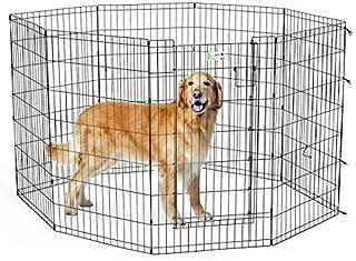 Dog playpen pet metal animal fense MIDWEST 42″ Black color Exercise Pen with Full MAX Lock Door