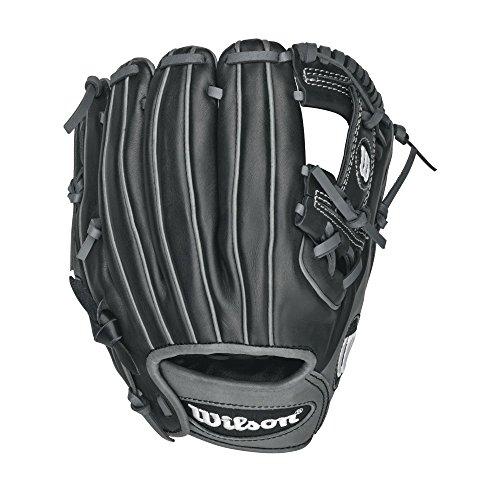 Wilson 6-4-3 Infield Baseball Glove, Black/Coal/White, Right Hand Throw, 11.25-Inch