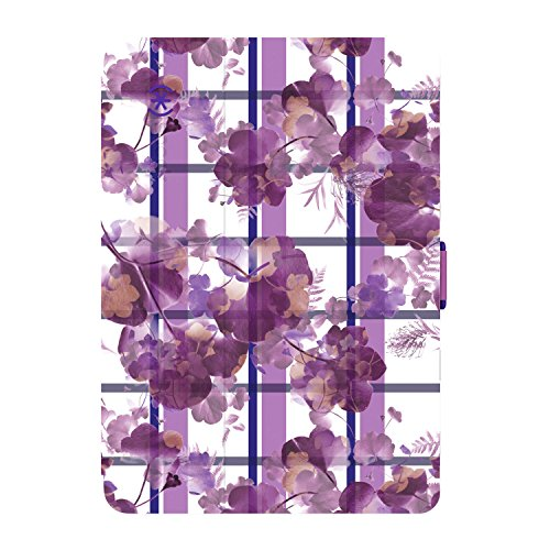 Speck Products StyleFolio Case and Stand for iPad Mini 4, (Porcelain Floral Plaid/Beaming Orchid)