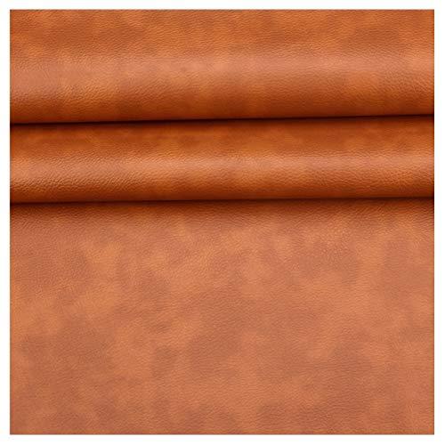 GLFYHG DIY Tessuto in Ecopelle al Metro , Similpelle , Superficie Perlata Litchi Artigianato in Pelle Sintetica Forniture Artigianali Fatte a Mano , Larghezza 138 Cm , 1 Pezzo = 100 Cm (Color : 51#)