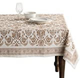 Maison d' Hermine Deer in The Woods 100% Cotton Tablecloth for Kitchen Dining   Tabletop  ...