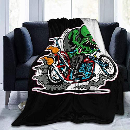 VJSDIUD Rat Fink Robuste Mikrofaser Flanell Fleece Decke ist Super Comfortablesoft Light Es ist für das Schlafsofa Wohnzimmer im Herbstwinter Frühling geeignet Es ist auch EIN Geschenk an die Famili