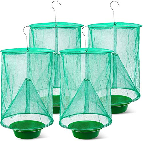 BMB Ranch Fly Trap | Most Effective Trap Ever Made with Fishing Apparatus | Food Bait Flay Catcher for Outdoor, Family Farms (4)