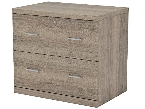 Z-Line Designs 2-Drawer Washed Oak Lateral File Cabinet,