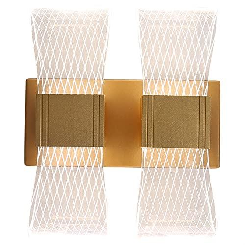 llddrz Lámparas de pared para sala de estar/dormitorio moderno minimalista dormitorio lámpara de pared nórdico lujo moda pasillo porche iluminación (tamaño: 2)