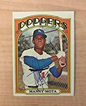 MANNY MOTA LOS ANGELES DODGERS VINTAGE SIGNED 1972 TOPPS CARD #596 W/COA