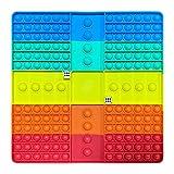 HUALAL Push Pop Bubble Fidget Sensory Toy - Tablero de ajedrez cuadrado de silicona Push Bubble Austism Need Reliver Toy (5 colores)