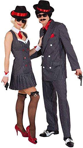Orlob Damen Kostüm Mafia Ganovin 20er Jahre zu Karneval Fasching Gr.34