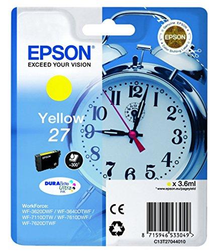 Epson DURABrite Ultra cartuccia di inchiostro giallo – Cartuccia di inchiostro per stampanti (Originale, inchiostro a base di pigmento, giallo, 1 pezzo(i), WF 36xx / 7110 / 76xx)