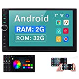 Android 10.0 Car Radio with Bluetooth 2 Din Car Stereo Double Din Head Unit 7 Inch Touch Screen GPS Navigation with Video Player Autoradio Mirror Link WiFi USB SD Port SWC OBD2 (2G RAM+32G ROM)