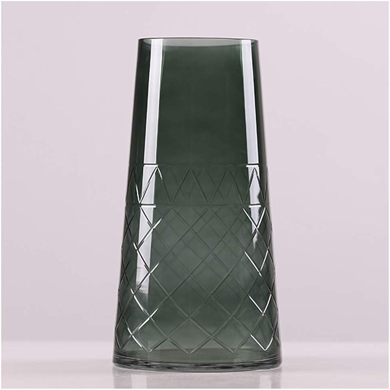 Vase WQQ en Verre Minimaliste Moderne Fil Salon décoration créatif Bureau Bureau décorations (Taille   B)