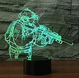 3D Lampe LED Nachtlicht,SUAVER 3D Optical Illusion Lampe Touch Tischlampe 7 Farbwechsel Dekoration...