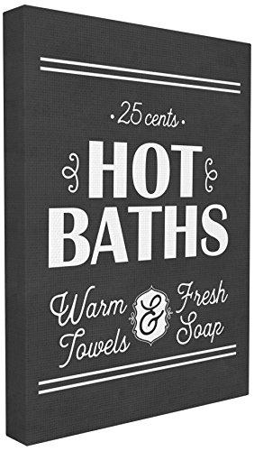 Stupell Industries Hot Baths, warm Handtücher, Fresh Seife gedehnt Art Wand, \'Stolz Made in USA, Leinwand, mehrfarbig, 40,64x 3,81x 50,8cm
