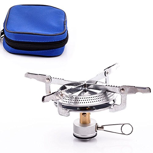 Alpertie Lightweight Large Burner Classic Camping and Backpacking Stove. For iso-Butane/Propane Canisters