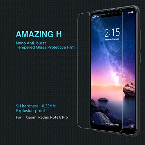 Nillkin Amazing 9H Anti-Explosion Tempered Glass Screen Protector Guard for Xiaomi Redmi Note 6 Pro (6.26-inch)