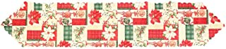 ForHe Christmas Table Runner, Christmas Embroidered Table Cloth Linens for Christmas Decorations 17835cm/7014in, 4 Patterns Optional