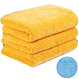 Handy Picks Microfiber Cleaning Cloth for Cars, Car Detailing Cloth n Microfiber Wax Applicator Combo for Car Washing, Drying, Buffing, Polishing
