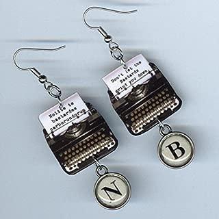 Nolite te Bastardes Carborundorum earrings jewelry - Handmaid's Tale quote - vintage typewriter keys - literary gift