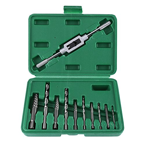 Extractor de tornillos y juego de brocas de mano izquierda, pedacitos de taladro de tornillo roto HHS de…