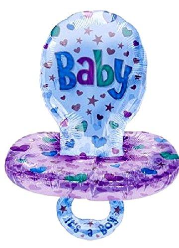 Mondial-fete - Ballon alu. tétine baby bleu 60 x 45 cm