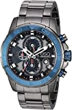 ESQ Men's Stainless Steel Chronograph Gunmetal Bracelet Watch FE/0060