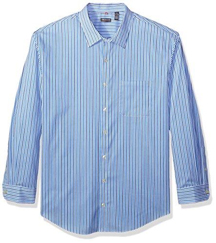 Van Heusen Men's Big Traveler Stretch Long Sleeve Non Iron Shirt, Soladite, Large Tall