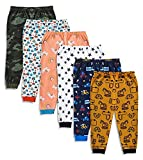 minicult Cotton Baby Pajama Pants Unisex with Rib (Pack of 6) (6-9 Months)(Assorted)