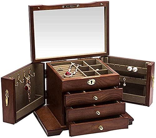 Caja de joyería de madera, caja de joyería, caja de almacenamiento, caja...