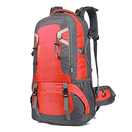 LXXYJ Waterproof Camping Backpacking,Hiking Backpack,Outdoor Trekking Backpack Suitable for Women Men Child Running Cycling Mountaineering Travel,Red,Large