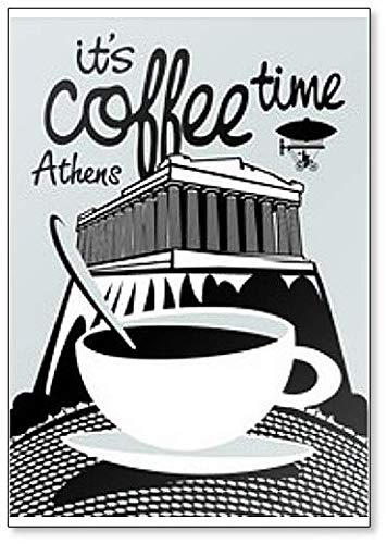 Het is koffie tijd met Akropolis in Athene Classic Koelkast Magneet