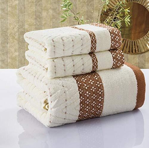 Heliansheng Juego de Toallas de baño de algodón para Adultos Juego de Toallas de Cara Suave de 3 piezas-5-1set