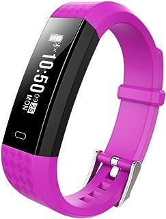 Soulitem- Pulsera Inteligente con frecuencia cardíaca y podómetro de monitoreo del sueño Impermeable.