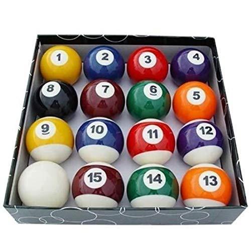 IU Desert Rose Einfaches Design Mini Spielzeug Familie Kinder Billard Ball Set komplette 16 Pool Balls Spaß Spiel - (bunt)
