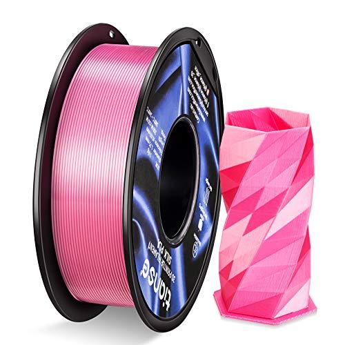 TIANSE Filamento PLA 1.75mm Silk Rosa, Stampante 3D PLA Filamento 1kg Spool, 3D Printing Filament PLA for 3D Printer and 3D Pen