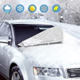 Aodoor カーフロントカバー 車サンシェード 176*118cm 四季用 凍結防止 雪対策 遮光 落葉対策 防水材料 薄手 普通車に適用 収納ポーチ付き