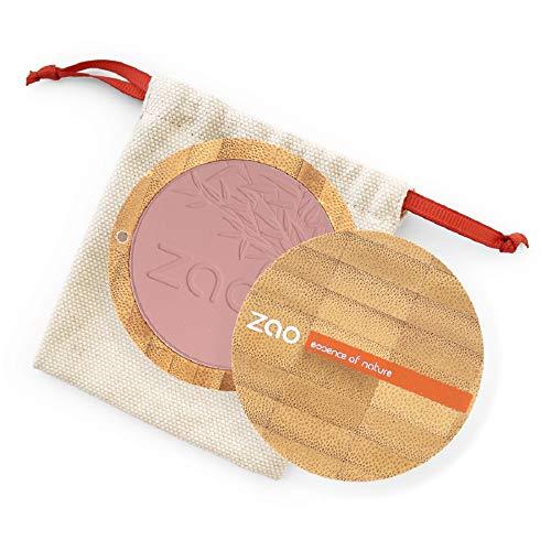 ZAO Compact Blush 323 dunkel-lila Rouge in nachfüllbarer Bambus-Dose (bio, Ecocert, Cosmebio,...