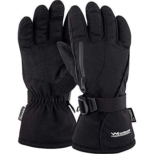 WindRider Rugged Waterproof Winter Gloves | Touchscreen Compatible | Cordura Shell, Thinsulate...