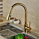 Tourmeler <span class='highlight'>Gold</span> <span class='highlight'>Kitchen</span> Mixer Hot And Cold <span class='highlight'>Taps</span> Luxury <span class='highlight'>Gold</span>en Handheld <span class='highlight'>Pull</span> <span class='highlight'>Out</span> <span class='highlight'>Kitchen</span> Faucet Deck Mounted Polish